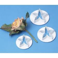pme 3 piece flower calyx icing cutter set equipment from cake