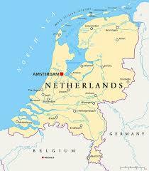 netherlands map map netherlands