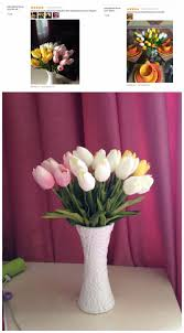Decorative Flowers For Home by 30pcs Lot Tulip Artificial Flower Pu Artificial Bouquet Real Touch