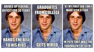 First Day Of College Meme - old economy steve a meme for frustrated millennials