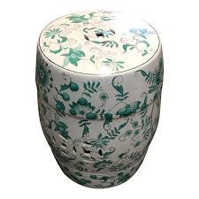 chinese green white garden stool design plus gallery