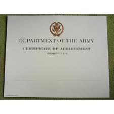 stunning army certificate of achievement template gallery resume