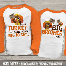 boys thanksgiving shirt listen up li l turkey big pregnancy