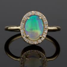 turquoise opal engagement rings opal and diamond ring u2014 mary john fine jewelry