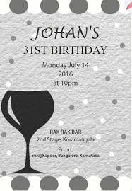 editable 31st birthday invitation card milestone birthday