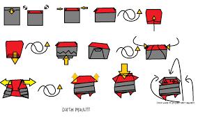 super folder derek u0027s origami darth maul u2026 with instructions