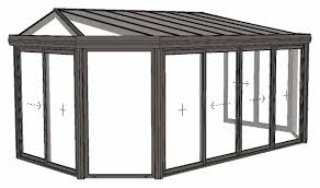 modele veranda maison ancienne veranda emeraude modèle à 2 pans coupés et toiture à facette