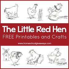 the little red hen free printables and crafts