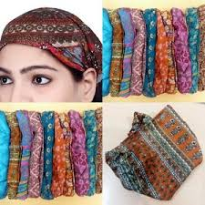 silk headband 10 pcs women silk headband printed wide hairband bandana lot men