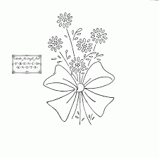 flower tracing pattern kids coloring