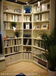 probably billy bookcases think about a corner bookcase ikea