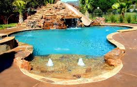 Bedroom Charming Swimming Pool And Water Slide Fun Ground