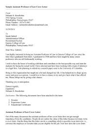 sample cover letter for college professor position