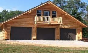 log garage with apartment plans cabin kits home garages living