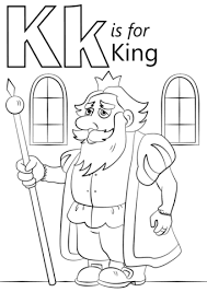 letter king coloring free printable coloring pages