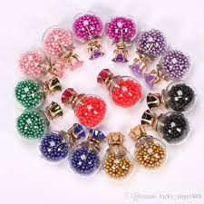 cheap stud earrings bestselling fashion korean glass hourglass stud earrings for