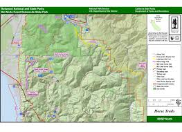 Oak Mountain State Park Trail Map by Horseback Riding U0026 Pack Animals Redwood National And State Parks