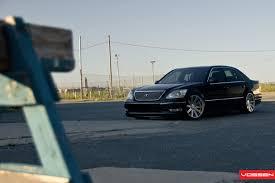 slammed lexus ls430 vossen wheels lexus ls vossen cv4