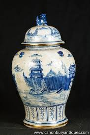Porcelain by Photo Of Single Nanking Pottery Ginger Jar Blue White Chinese