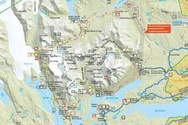 Patagonia Map Trekking Torres Del Paine W Trek Patagonia Chile