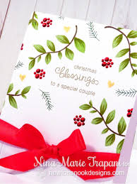 clean and simple christmas card with newton u0027s nook designs nina