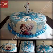 pastel fondant frozen repostería y pastelería ulloarepostería y