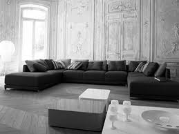 Sofa And Furniture Sofa 34 Fascinating U Shaped Black Sofa And Cushions Added By