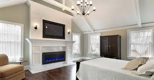 Electric Wall Fireplace Napoleon An Electric Wall Fireplace Look Built In