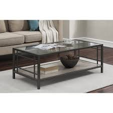 Glass And Metal Coffee Tables Copper Grove Wood Glass Metal Coffee Table Free Shipping