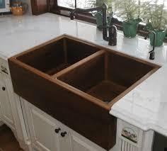 double sinks for kitchens teak double kitchen sink sinks gallery