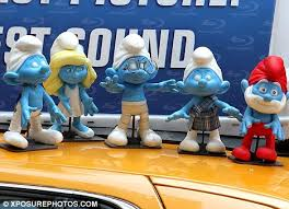 smurfs cast film scenes model dolls york daily