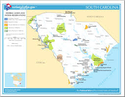 Map Of South India by Map Of South Carolina Map Federal Lands And Indian Reservations