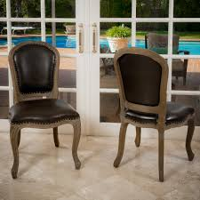leather studded dining room chairs euskal net dining room chairs