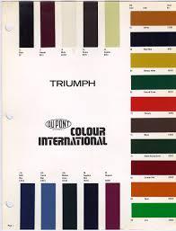 old paint charts for triumph colors triumph herald tips u0026 tricks