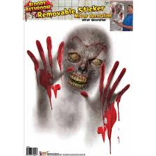 Monster Halloween by Mirror Bloody Monster Halloween Decoration Walmart Com