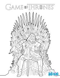 game of thrones ned stark no trono férreo coloring pages for