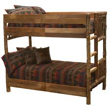 Barnwood Bunk Beds Fireside Lodge Hickory Bunk Bed With Barnwood Rail Reviews