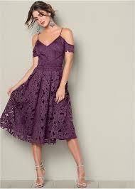 midi dress lace midi dress in purple venus