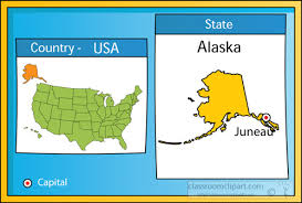 us state map with alaska us state maps clipart juneau alaska 2 state us map with capital