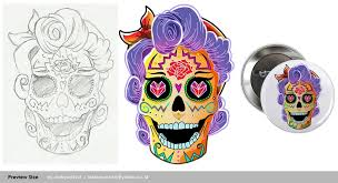 entry 24 by mobyartist2 for day of the dead sugar skull design