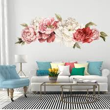 giant peony wall stickers floral wall mural watercolor peony