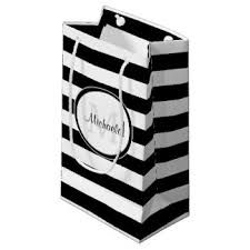 black and white striped gift bags wide stripes gift bags zazzle