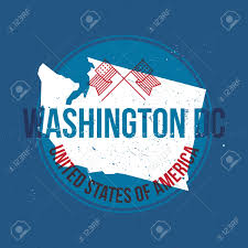 Washington Dc State Map by Map Of Washington Dc State Label Royalty Free Cliparts Vectors