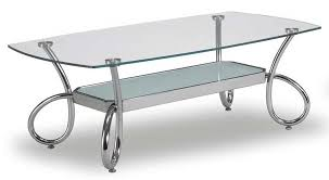 chrome loops and glass coffee table 259 00