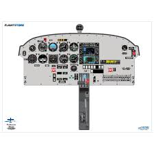 pa 28 arrow aircraft cockpit poster