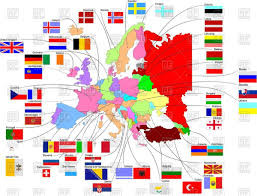 European Union Map Map And Flags Of European Union Vector Image 57681 U2013 Rfclipart