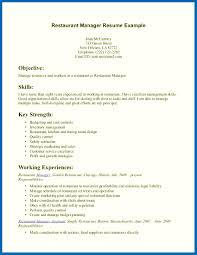 exles of resumes for restaurant restaurant manager skills resume embersky me