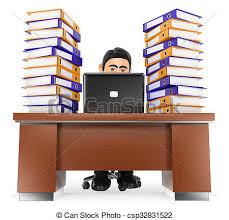 clipart bureau beaucoup travail 3d bureau homme affaires do bureau