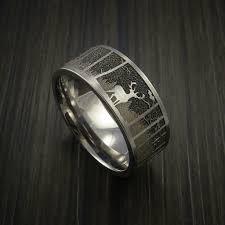elk in wedding ring cobalt chrome band cobalt