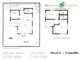 Two Storey Floor Plans The Prestige Subdivision Cabantian Davao City Camille Model